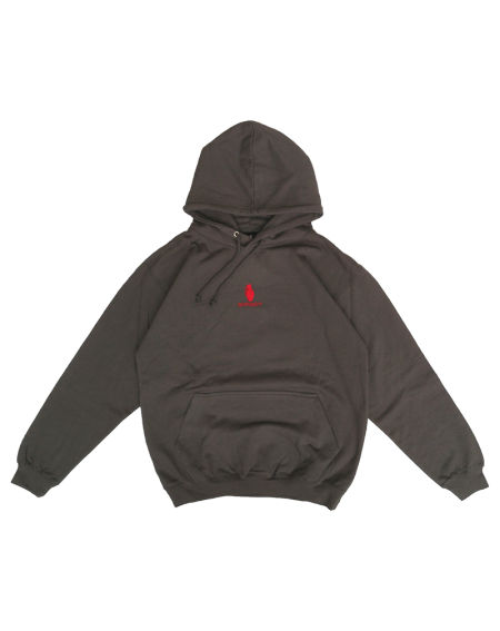 Sweat à capuche Steel Grey/Rouge