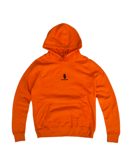 Sweat à Capuche Orange Crush/Black Womens